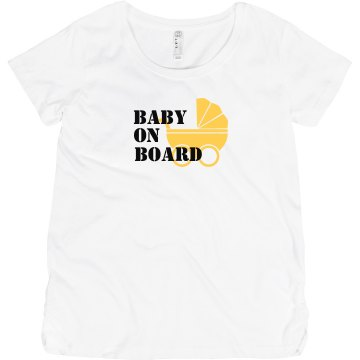 Baby On Board Maternity LA T Sportswear Tee