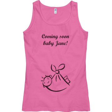 Coming Soon Baby Jane Junior Fit Bella Sheer Longer Length Rib Tank Top