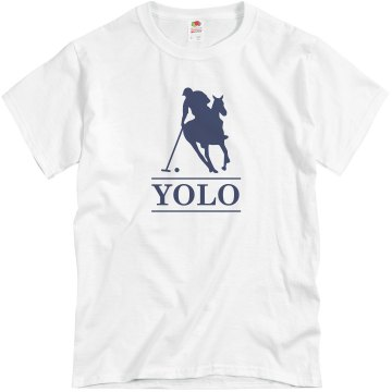 YOLO Polo Unisex Basic Gildan Heavy Cotton Crew Neck Tee