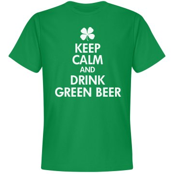 Drink Green Beer Unisex Gildan Heavy Cotton Crew Neck Tee