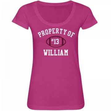 Property Of William Junior Fit Bella Sheer Longer Length Rib V-Neck Tee