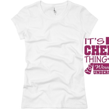 It&#x27;s A Cheer Thing Junior Fit Basic Bella Favorite Tee