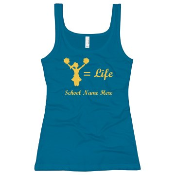 Cheer Equals Life Junior Fit Bella Sheer Longer Length Rib Tank Top