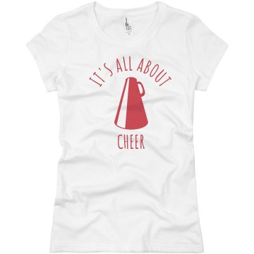 It's All About Cheer Junior Fit Basic Bella Favorite Tee