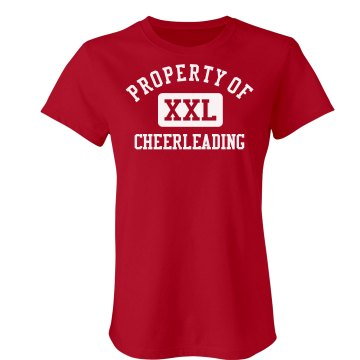 Property Of Cheerleading Junior Fit Bella Sheer Longer Length Rib Tee