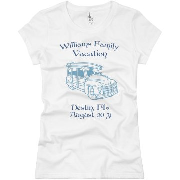 Family Road Trip Junior Fit Basic Bella Favorite Tee