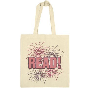 Read A Book Tote Liberty Bags Canvas Bargain Tote Bag