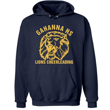 Gahanna HS Lions Cheer Unisex Hanes Ultimate Cotton Heavyweight Hoodie