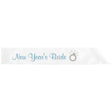 New Year's Bride Adult Satin Party Sash