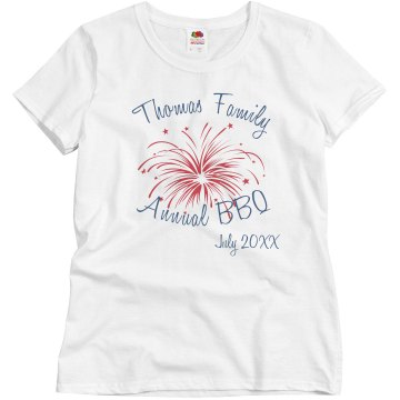 Thomas Family BBQ Misses Relaxed Fit Basic Gildan Ultra Cotton Tee