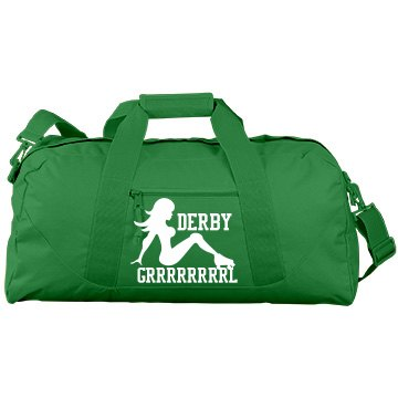 Roller Derby Gear Bag Port & Company Large Square Duffel Bag