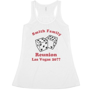 Vegas Family Reunion Misses Relaxed Fit Basic Anvil Heavyweight Tank Top