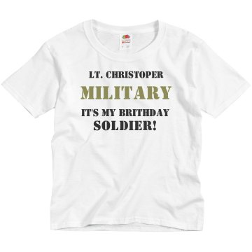 Army Birthday Youth Basic Gildan Ultra Cotton Crew Neck Tee