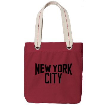 New York Bag Port Authority Color Canvas Tote