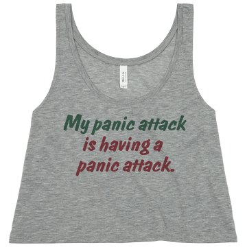 My Panic Attack Misses Bella Flowy Boxy Lightweight Crop Tank