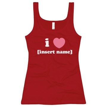 I Heart.... Junior Fit Bella Longer Length 1x1 Rib Tank Top