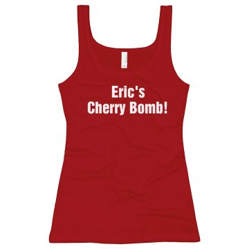 Eric's Cherry Bomb Junior Fit Bella Longer Length 1x1 Rib Tank Top