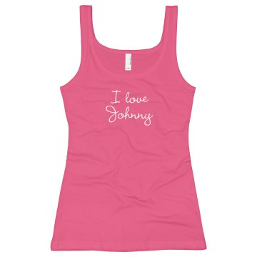 I Love Big Boys Junior Fit Bella Longer Length 1x1 Rib Tank Top