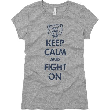 Keep Calm School Mascot Junior Fit Basic Bella Favorite Tee