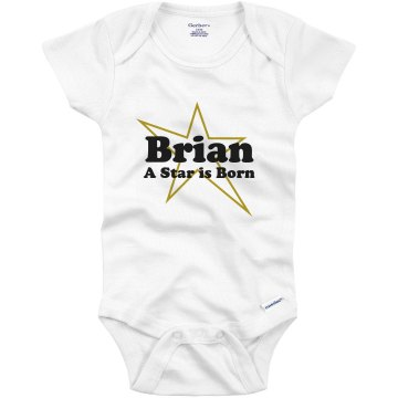 A Star Is Born Infant Tee Infant Bella Baby Long Sleeve Lap Shoulder Tee