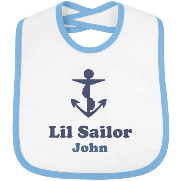 Custom Sailor Bib Infant Bella Baby 1x1 Rib Bib