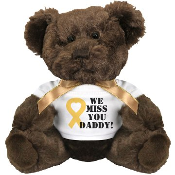 Miss Our Marine Daddy Medium Plush Teddy Bear