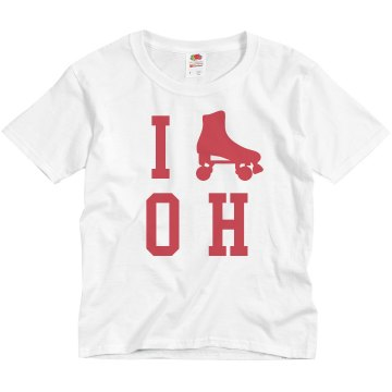 I Skate Ohio Youth Basic Gildan Ultra Cotton Crew Neck Tee
