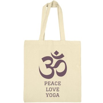 Peace Love Yoga Liberty Bags Canvas Bargain Tote Bag