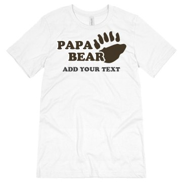 Papa Bear Unisex Basic Gildan Heavy Cotton Crew Neck Tee