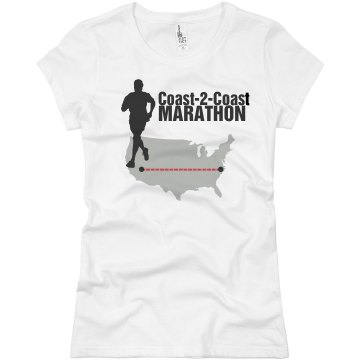 Coast To Coast  Junior Fit Basic Bella Favorite Tee