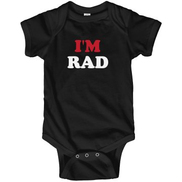 I'm Radical Infant Rabbit Skins Lap Shoulder Creeper
