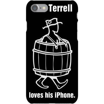 Terrell Loves His iPhone Plastic iPhone 5 Case Black