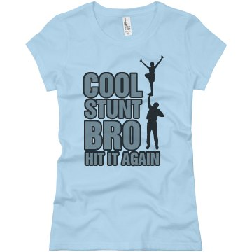 Cool Stunt Bro Gold Junior Fit Basic Bella Favorite Tee