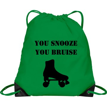 Snooze N Bruise Derby Bag Port &amp; Company Drawstring Cinch Bag