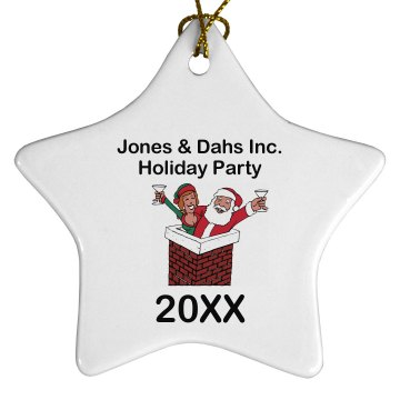 Holiday Party Ornament Porcelain Star Ornament