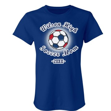 Soccer Mom Tee Junior Fit American Apparel Fine Jersey Tee