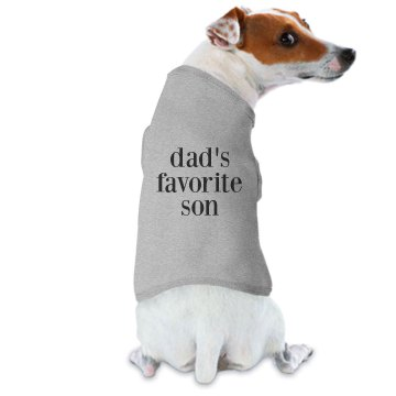 Dad&#x27;s Favorite Son Doggie Skins Dog Hoodie Tee