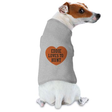 Eddie Loves to Hunt Doggie Skins Dog Hoodie Tee