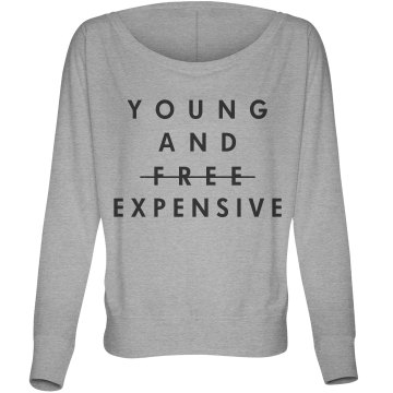Young and Expensive Misses Bella Flowy Lightweight Relaxed Dolman Tee