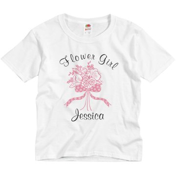 Flower Girl Jessica Youth Bella Girl 1x1 Rib Cap Sleeve Tee