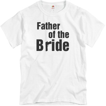 Father Of The Bride Gun Unisex Basic Gildan Heavy Cotton Crew Neck Tee