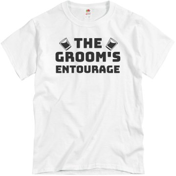 Groom's Entourage Unisex Basic Gildan Heavy Cotton Crew Neck Tee