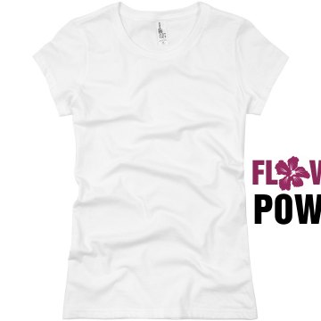 Flower Power Junior Fit Basic Bella Favorite Tee