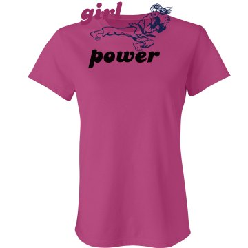 Girl Power Kick! Junior Fit Bella Sheer Longer Length Rib Tee