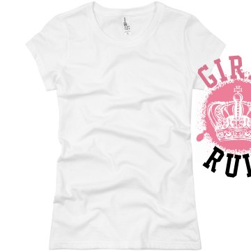 Girls Rule Splat Crown Junior Fit Basic Bella Favorite Tee