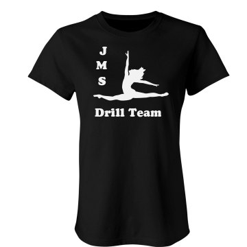 JMS Drill Team Junior Fit Bella Sheer Longer Length Rib Tee