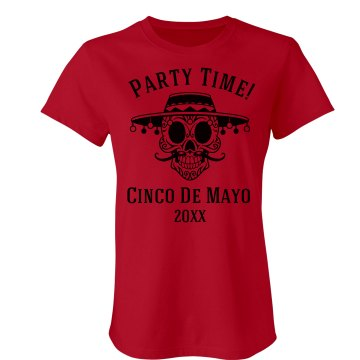 Cinco De Mayo Junior Fit Bella Sheer Longer Length Rib Tee