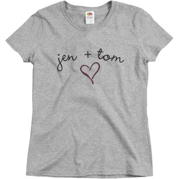Jen + Tom Misses Relaxed Fit Basic Gildan Ultra Cotton Tee