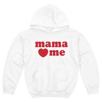Mama Loves Me Youth Gildan Heavy Blend Hoodie