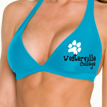 College Mascot Omni Swimsuit Halter Top